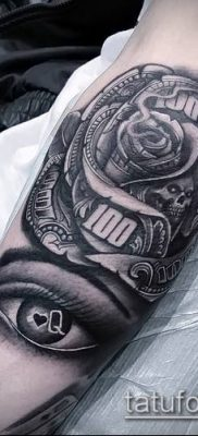 фото тату доллар (tattoo dollar) (значение) – пример рисунка – 054 tatufoto.com