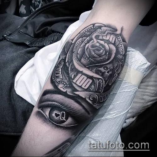 фото тату доллар (tattoo dollar) (значение) - пример рисунка - 054 tatufoto.com