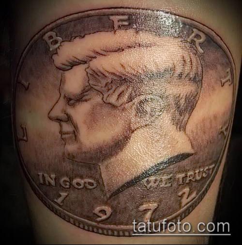 фото тату доллар (tattoo dollar) (значение) - пример рисунка - 056 tatufoto.com