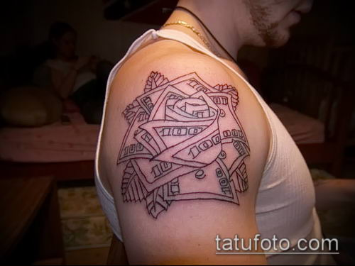 фото тату доллар (tattoo dollar) (значение) - пример рисунка - 057 tatufoto.com