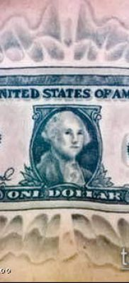 фото тату доллар (tattoo dollar) (значение) – пример рисунка – 058 tatufoto.com