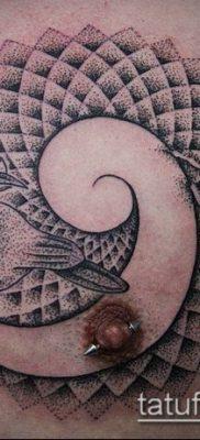 тату дотворк №164 – классный вариант рисунка, который хорошо можно использовать для доработки и нанесения как тату дотворк рукава