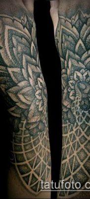 тату дотворк №649 – крутой вариант рисунка, который хорошо можно использовать для преобразования и нанесения как тату дотворк