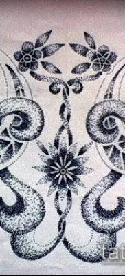 тату дотворк №834 – достойный вариант рисунка, который успешно можно использовать для переработки и нанесения как тату дотворк на руке