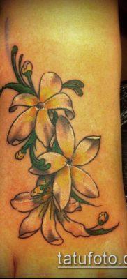 тату жасмин №407 – эксклюзивный вариант рисунка, который успешно можно использовать для доработки и нанесения как Tattoo jasmine