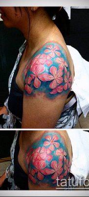 тату жасмин №279 – крутой вариант рисунка, который удачно можно использовать для преобразования и нанесения как тату жасмин цветок