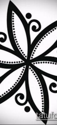тату жасмин №379 – достойный вариант рисунка, который легко можно использовать для переделки и нанесения как тату жасмин на ключице