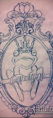 тату зеркало №214 – интересный вариант рисунка, который легко можно использовать для переделки и нанесения как тату зеркало на руке