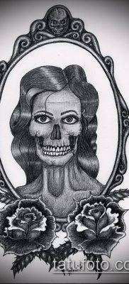 тату зеркало №236 – крутой вариант рисунка, который удачно можно использовать для преобразования и нанесения как тату зеркало на спине