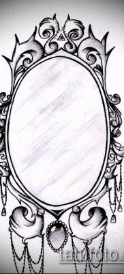 тату зеркало №51 – достойный вариант рисунка, который хорошо можно использовать для переработки и нанесения как тату зеркало с розами