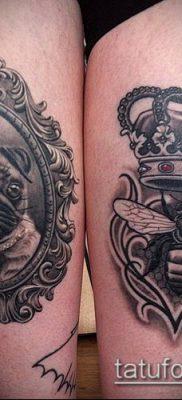 тату зеркало №258 – классный вариант рисунка, который удачно можно использовать для переделки и нанесения как тату зеркало души