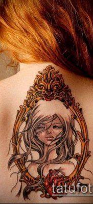 тату зеркало №254 – эксклюзивный вариант рисунка, который легко можно использовать для переделки и нанесения как тату зеркало