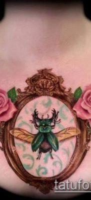 тату зеркало №237 – прикольный вариант рисунка, который удачно можно использовать для преобразования и нанесения как тату зеркало на ноге