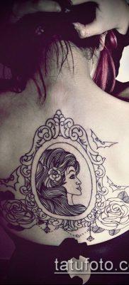 тату зеркало №481 – классный вариант рисунка, который хорошо можно использовать для переделки и нанесения как тату зеркала на спине