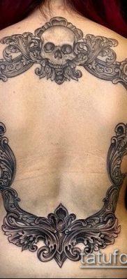 тату зеркало №81 – уникальный вариант рисунка, который удачно можно использовать для преобразования и нанесения как тату зеркало олд скул