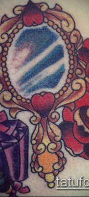 тату зеркало №618 – эксклюзивный вариант рисунка, который хорошо можно использовать для переработки и нанесения как тату зеркало венеры