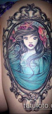 тату зеркало №717 – интересный вариант рисунка, который удачно можно использовать для преобразования и нанесения как тату зеркало бедро