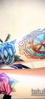 тату зеркало №294 – классный вариант рисунка, который хорошо можно использовать для переделки и нанесения как тату зеркало олд скул
