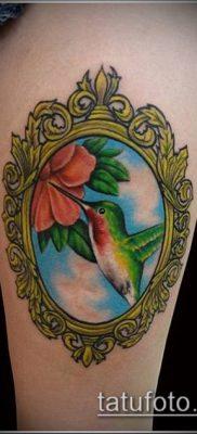тату зеркало №891 – крутой вариант рисунка, который хорошо можно использовать для переработки и нанесения как тату зеркало на спине