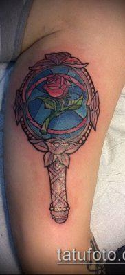 тату зеркало №342 – классный вариант рисунка, который удачно можно использовать для преобразования и нанесения как тату зеркало на руке