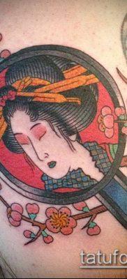 тату зеркало №256 – достойный вариант рисунка, который успешно можно использовать для доработки и нанесения как тату зеркала на спине