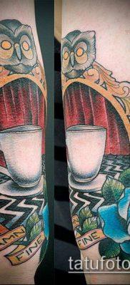 тату зеркало №178 – интересный вариант рисунка, который легко можно использовать для доработки и нанесения как тату зеркало олд скул