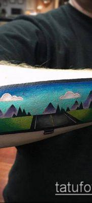 тату зеркало №130 – классный вариант рисунка, который хорошо можно использовать для переделки и нанесения как тату зеркало