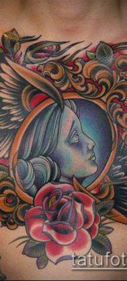 тату зеркало №951 – крутой вариант рисунка, который легко можно использовать для переделки и нанесения как тату зеркало бедро