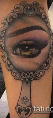тату зеркало №807 – классный вариант рисунка, который хорошо можно использовать для преобразования и нанесения как тату зеркало на спине