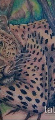тату ирбис №196 – интересный вариант рисунка, который легко можно использовать для преобразования и нанесения как тату ирбис на спине