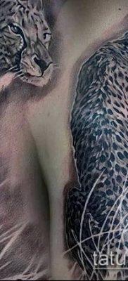 тату ирбис №280 – достойный вариант рисунка, который легко можно использовать для преобразования и нанесения как тату ирбис на спине