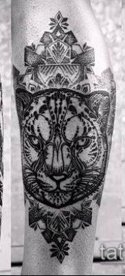 тату ирбис №289 – прикольный вариант рисунка, который хорошо можно использовать для доработки и нанесения как тату ирбис снежный барс