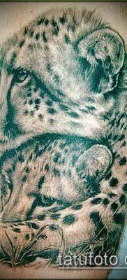 тату ирбис №498 – крутой вариант рисунка, который успешно можно использовать для доработки и нанесения как тату ирбис динго