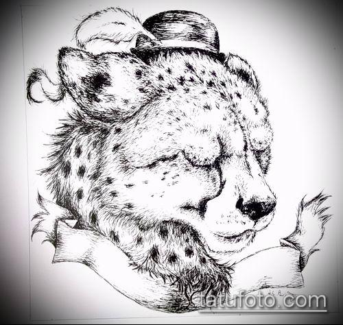 тату ирбис №811 - уникальный вариант рисунка, который хорошо можно использовать для доработки и нанесения как тату ирбис динго