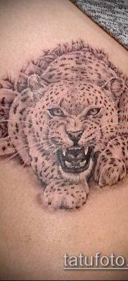 тату ирбис №689 – эксклюзивный вариант рисунка, который хорошо можно использовать для доработки и нанесения как тату ирбис динго