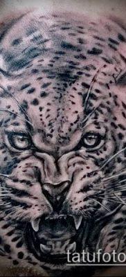 тату ирбис №926 – интересный вариант рисунка, который легко можно использовать для переделки и нанесения как тату ирбис динго