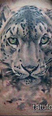 тату ирбис №479 – достойный вариант рисунка, который удачно можно использовать для переделки и нанесения как тату ирбис динго