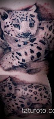 тату ирбис №862 – достойный вариант рисунка, который удачно можно использовать для переработки и нанесения как тату ирбис снежный барс