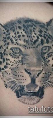 тату ирбис №105 – интересный вариант рисунка, который успешно можно использовать для преобразования и нанесения как тату ирбис динго