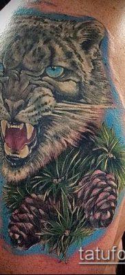 тату ирбис №102 – прикольный вариант рисунка, который легко можно использовать для переработки и нанесения как тату ирбис динго