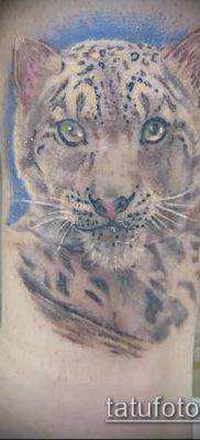 тату ирбис №605 – достойный вариант рисунка, который успешно можно использовать для переделки и нанесения как тату ирбис снежный барс