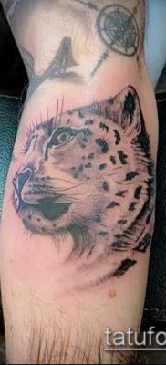 тату ирбис №378 – эксклюзивный вариант рисунка, который хорошо можно использовать для переделки и нанесения как тату ирбис на спине