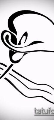 тату каллы №573 – интересный вариант рисунка, который удачно можно использовать для преобразования и нанесения как тату каллы акварель