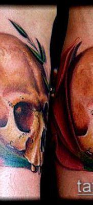 тату каллы №51 – эксклюзивный вариант рисунка, который удачно можно использовать для преобразования и нанесения как тату каллы акварелью