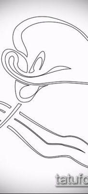 тату каллы №854 – крутой вариант рисунка, который легко можно использовать для переделки и нанесения как тату каллы акварелью
