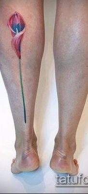тату каллы №417 – классный вариант рисунка, который успешно можно использовать для доработки и нанесения как тату цветок каллы