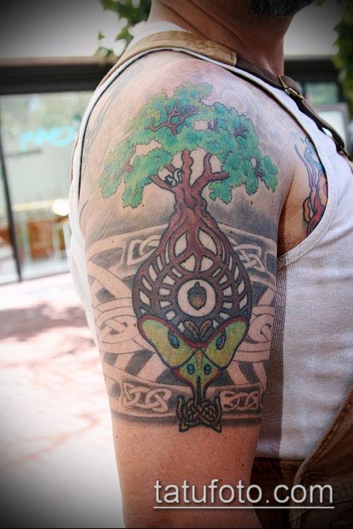 тату кельтика №200 - крутой вариант рисунка, который успешно можно использовать для переработки и нанесения как тату кельтика предплечье