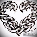 тату кельтика №993 - достойный вариант рисунка, который легко можно использовать для переделки и нанесения как тату кельтика