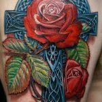тату кельтика №707 - эксклюзивный вариант рисунка, который легко можно использовать для преобразования и нанесения как тату кельтика для девушек
