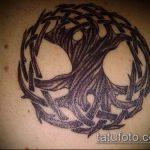 тату кельтика №766 - крутой вариант рисунка, который легко можно использовать для доработки и нанесения как тату кельтика на руке